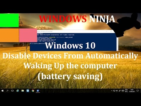 Windows 10 Disable Devices From  Waking Up The Computer (battery saving)