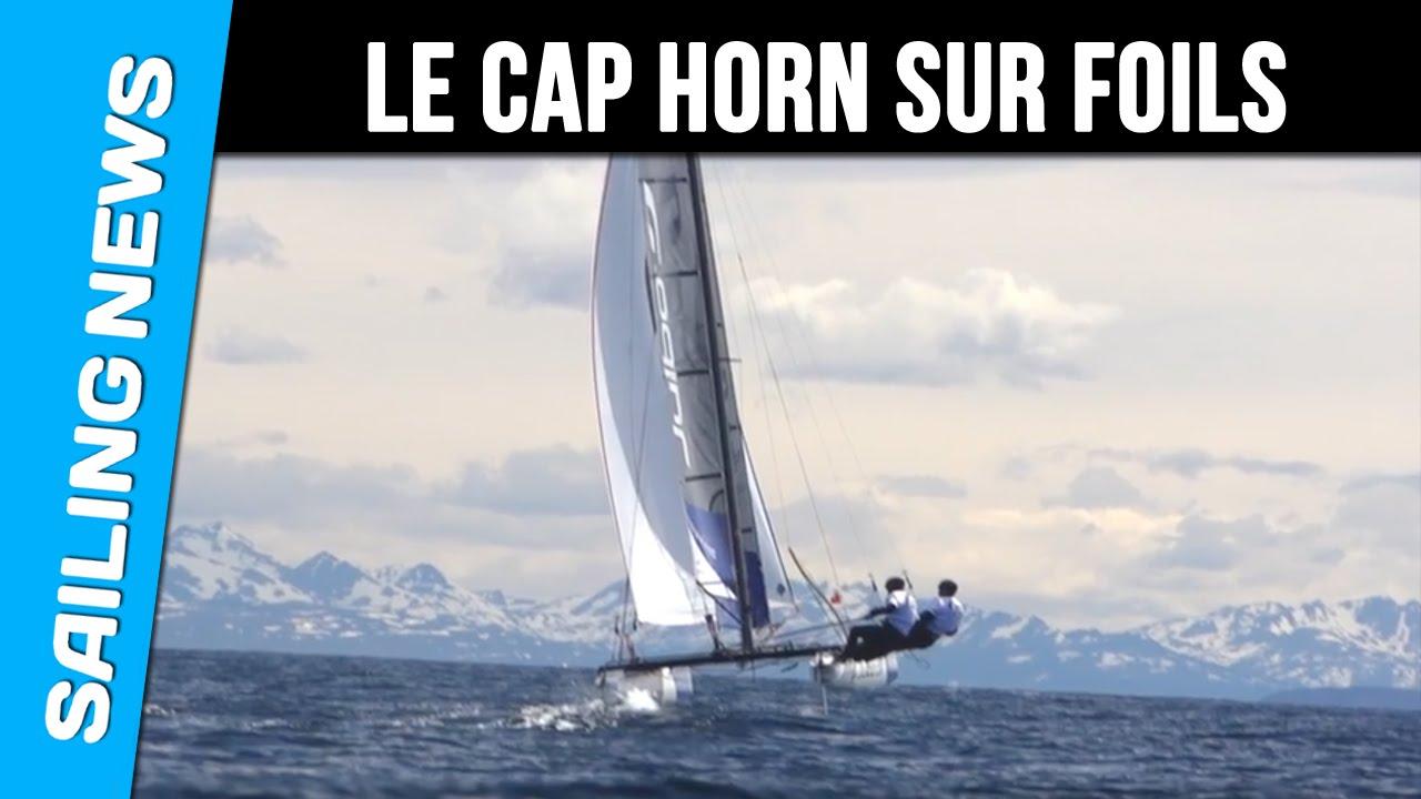 Franck Cammas passe le CAP HORN en Catamaran volant - JULBO