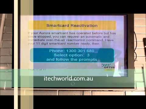 Reboot your optus card. by itechworld.com.au