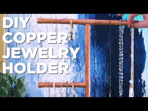 DIY Copper Jewelry Organizer - HGTV