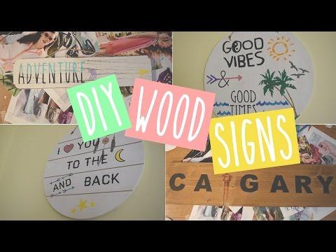 DIY | Painted Wood Signs