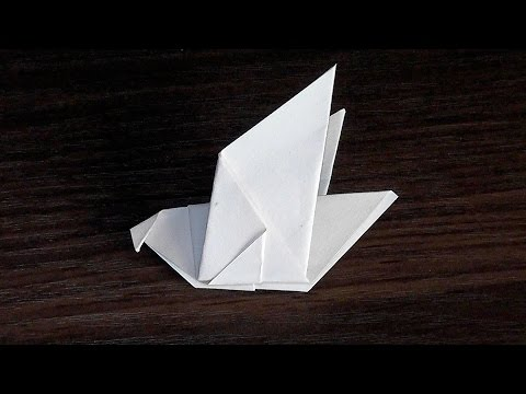 How to make dove of paper ☛ with their hands for beginners