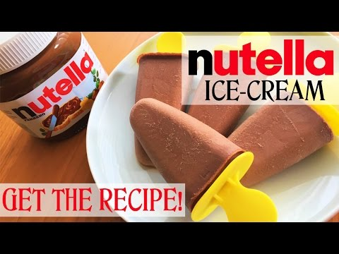 ✿ NUTELLA Popsicles | NO BLENDER ice-cream | Super Easy Recipe | It's Time to Cook