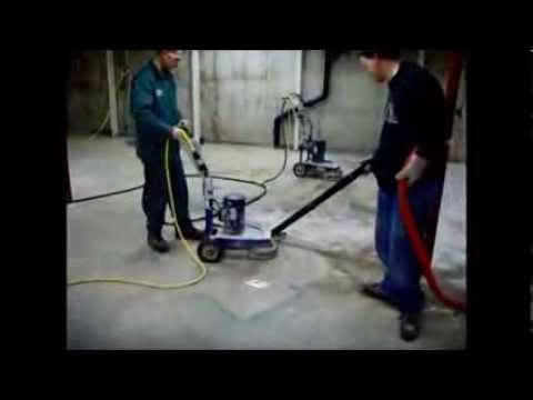 How to remove paint glue mastic with a concrete grinder - www.SealGreen.com - 800-997-3873