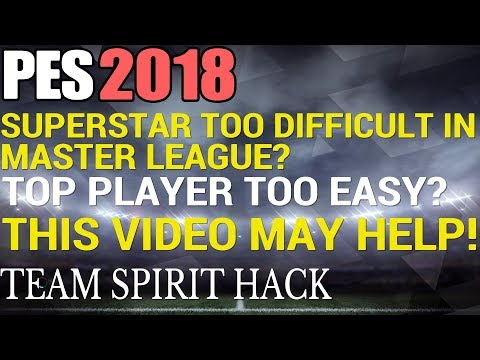 PES 2018 - Master League Team Spirit HACK!