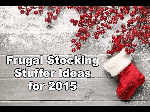 Frugal Stocking Stuffer Ideas for 2015