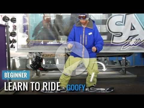 Learn To Ride (Goofy) On A Snowboard