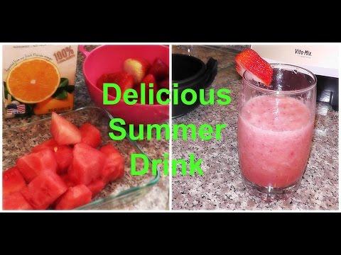 DIY Delicious, Easy, and Healthy Summer Drink: Watermelon Strawberry Slushie