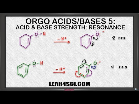 Effect of Resonance on Acidity when Ranking Acids and Bases in Organic Chemistry
