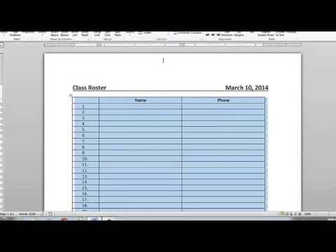 How to Make Invisible Table Borders on Microsoft Word : Microsoft Word Doc Tips