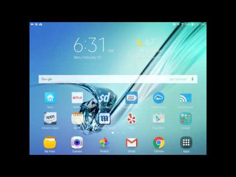 Samsung Galaxy Tab S2 - How To Remove Flipboard