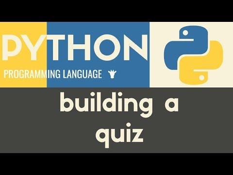 Building a Multiple Choice Quiz   Python   Tutorial 32