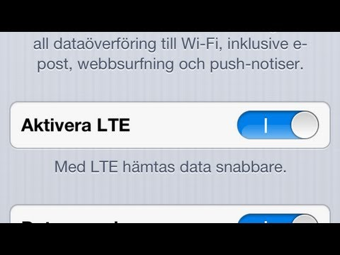How To Enable LTE on iPhone 5 Sweden