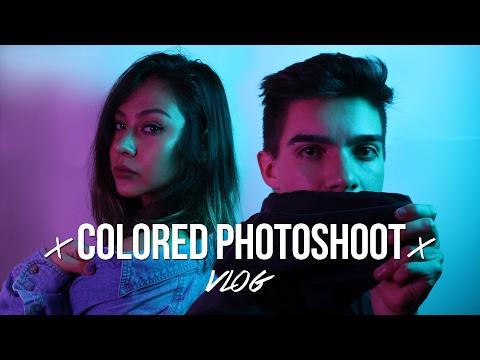 COLORED LIGHTS PHOTO-SHOOT // Vlog