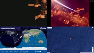 Orbital Sunrise Over South Atlantic - ISS Space Station Earth View LIVE NASA/ESA Cameras And Map 35