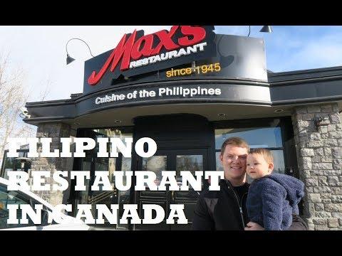 FILIPINO MAX'S RESTAURANT IN CANADA