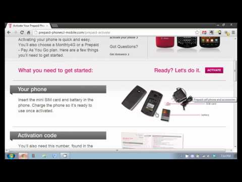 Activating an Unlocked Phone on T-Mobile No Contract Service