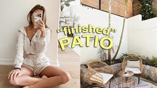 MY FINISHED PATIO/FENCE REVEAL! + new chairs for my table!