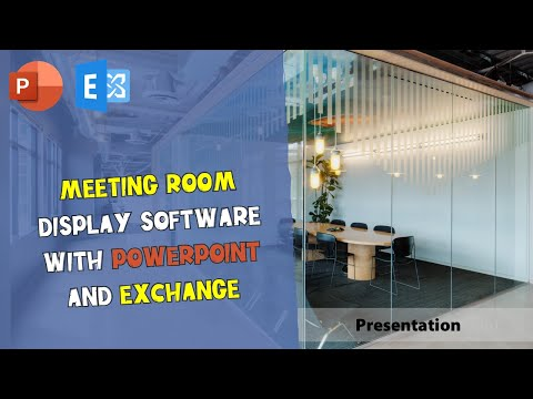 Meeting Room Display Software with PowerPoint and Exchange