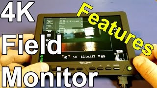 Bestview S7 4K LCD Professional Field Monitor Menu and Features!