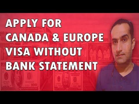 Apply Canada & Europe Schengen Visa Without Bank Statement