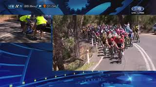 Morabito pops a shoulder | Stage 2 | Santos Tour Down Under