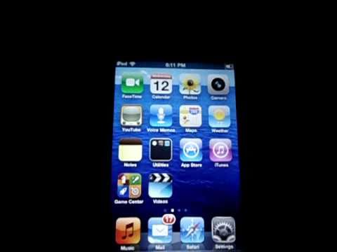 check  iPod touch 4g battery percentage