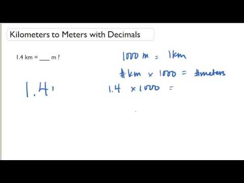 Kilometers to Meters with Decimals
