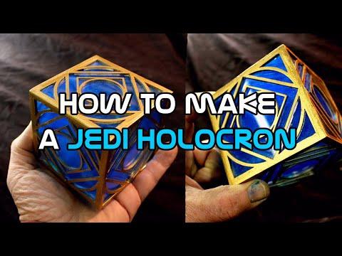 Star Wars Jedi Holocron DIY - lifesized holocron prop