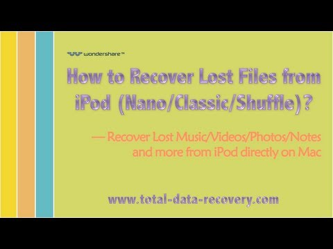 [iPod Recovery] How to Recover Data from iPod Nano/Classic/Shuffle on Mac?
