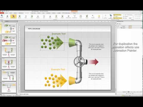 Input output processes animation in PowerPoint 2010 ( www.PoweredTemplate.com)
