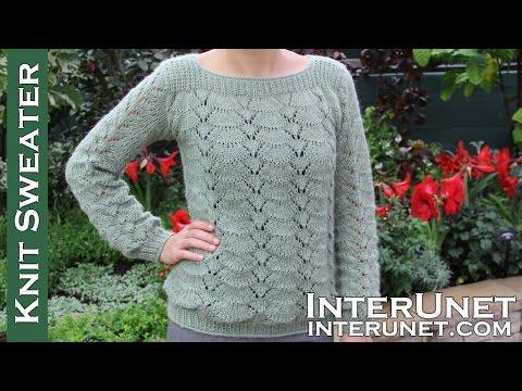 Long-sleeve lace sweater knitting pattern