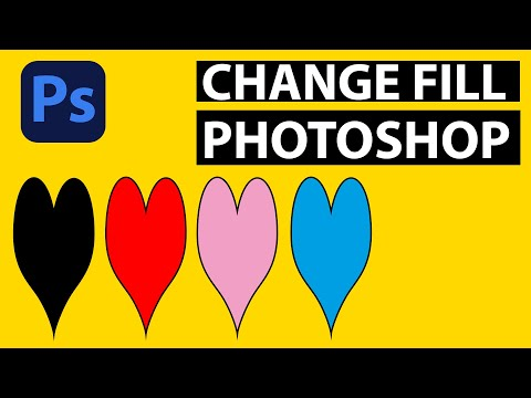 Change fill color of shapes in Photoshop tutorial