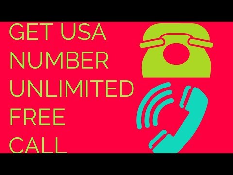 UNLIMITED FREE CALL AND GET USA NUMBER
