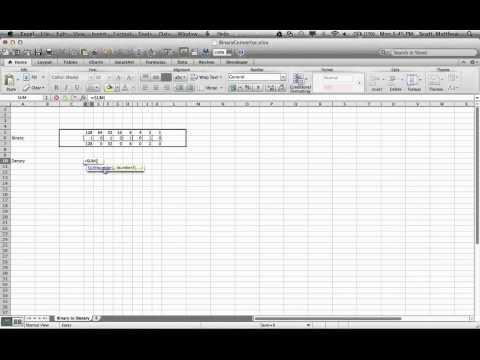 Binary Converter Spreadsheet