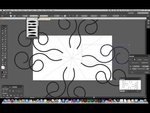 Vectorscribe 2.1 : Mirrorme plugin for symmetrical curve designs in Illustrator