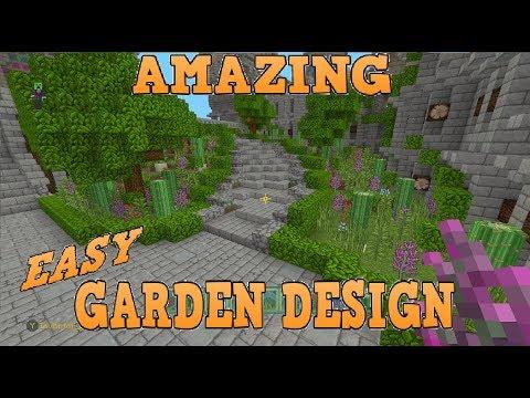 Minecraft Amazing Quick Easy Garden Design