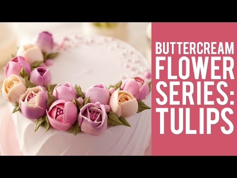 How to Make Buttercream Flowers: Tulips