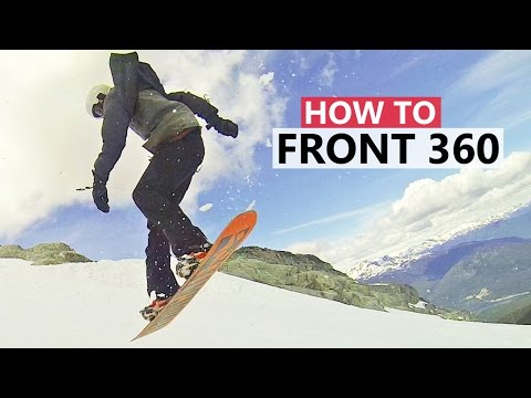 How to do Your First Frontside 360 - Beginner Snowboard Tricks