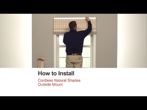 Bali Blinds | How to Install Corded Natural Shades - Outside Mount