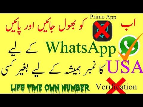 Free Lifetime USA Number for Whatsapp - Urdu & Hindi