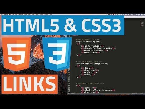 HTML5 and CSS3 beginner tutorial 7 - Links