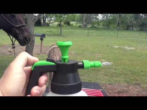 Horse Fly Sprayer Pump Discussion - Buddy Scratches his belly - Rick Gore Horsemanship