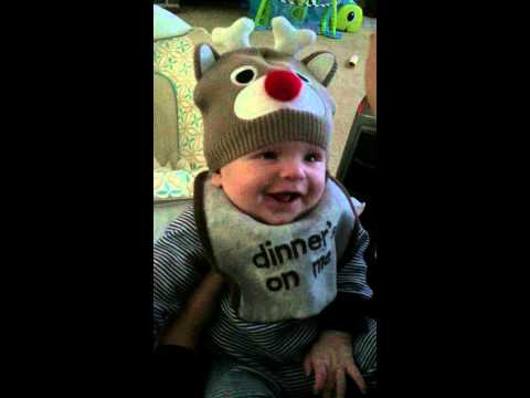 Baby excited for Christmas