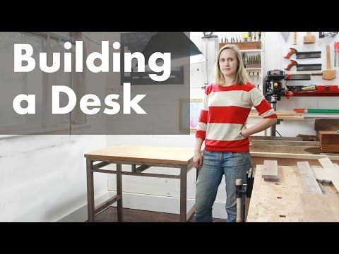 How I Built a Desk with Drawers