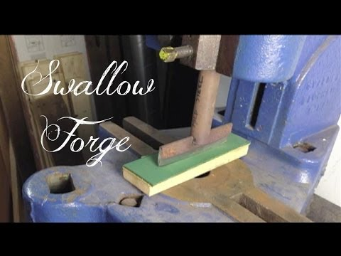 How to make a Simple Flypress Guillotine. Blacksmiths tools. Swallow Forge No.16