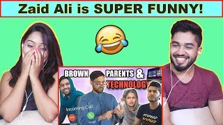 INDIANS react to BROWN PARENTS AND TECHNOLOGY! | Zaid Ali