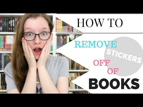 How to Remove Stickers off of Books!