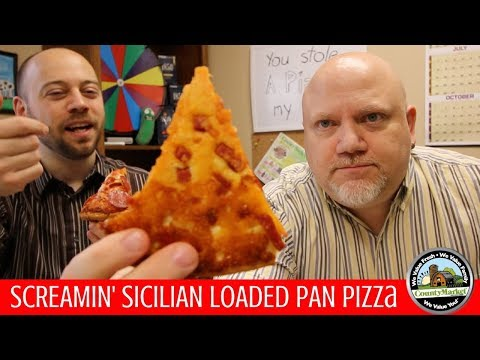 Screamin' Sicilian Loaded Pan Pizza Review | Pepperoni Infused Crust First Taste