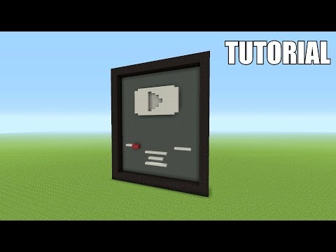 Minecraft Tutorial: How To Make A YouTube Silver Playbutton!!